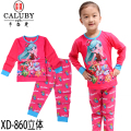 fashion kids clothing set girls long sleeve pajamas red pajiama