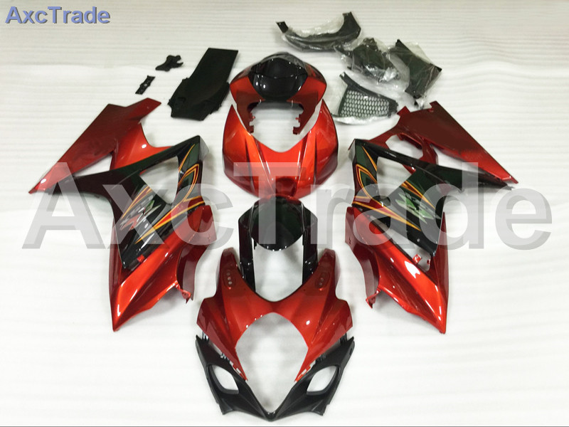 Motorcycle Fairings For Suzuki GSXR GSX-R 1000 GSXR1000 GSX-R1000 2007 2008 07 08 K7 ABS Plastic Injection Fairing Kit Red Black abs plastic fairing kit for suzuki gsxr1000 2007 2008 k7 gsxr 1000 07 08 red black moto fairings set cb34 7 gifts