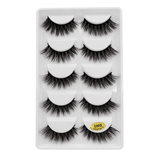SHIDISHANGPIN mink eyelashes strip lashes volume eyelash extensions 5 pairs cilios