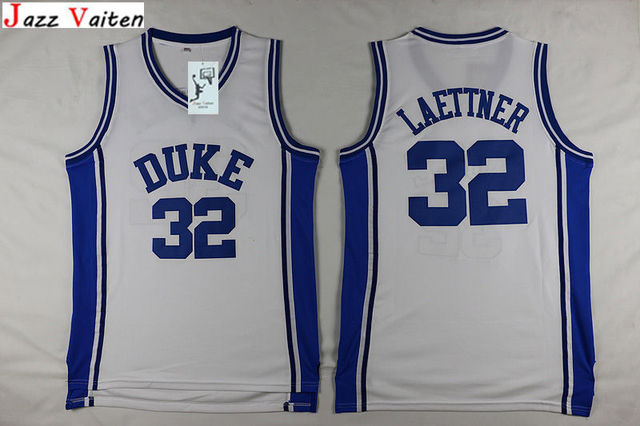 457f2c43c45 Jazz Vaiten Duke University Throwback Basketball Jerseys 32 Christian  Laettner #4 J.J Redick 33 Grant Hill Mens Sport Shirts