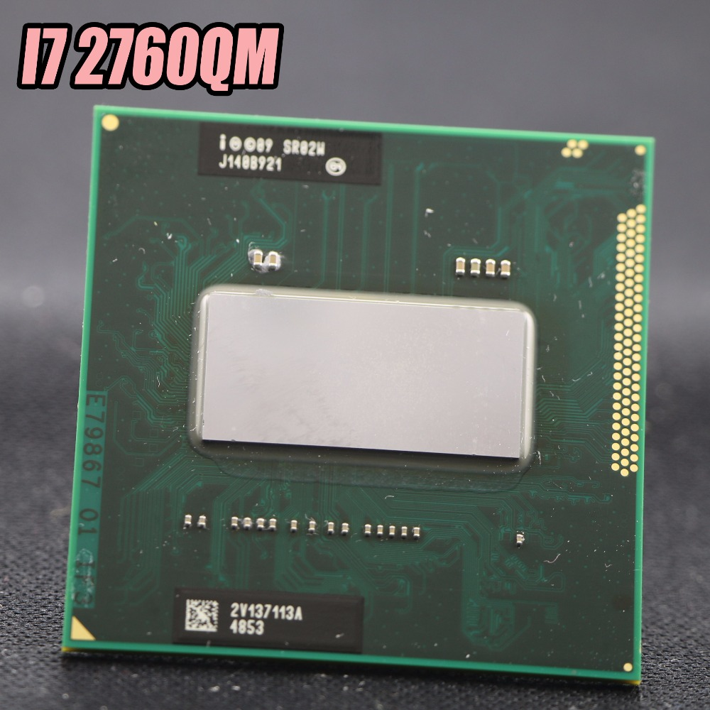 Original Processor INTEL Laptop CPU SR02W i7-2760QM SRO2W Core i7 Mobile CPU i7 2760QM Central processor 6M PGA 2.4GHz to 3.5GHz