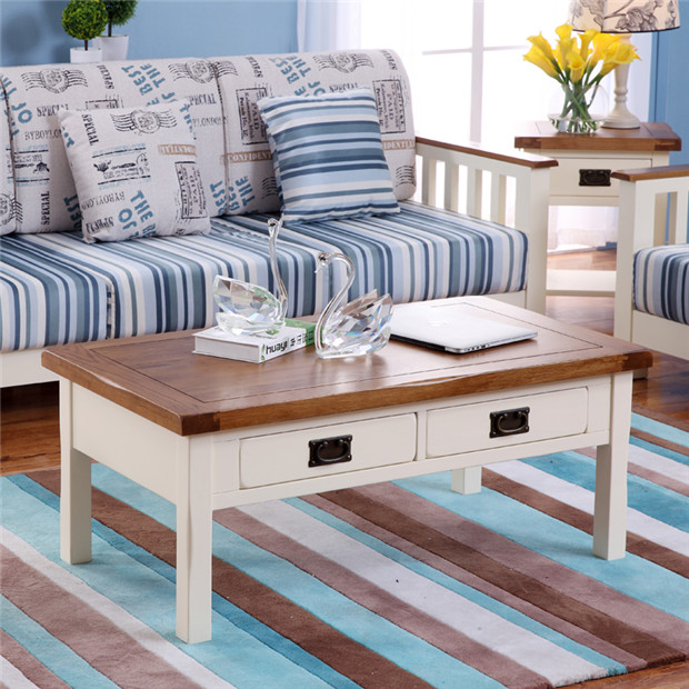 Pure Solid Wood Furniture Oak Coffee Table Combination