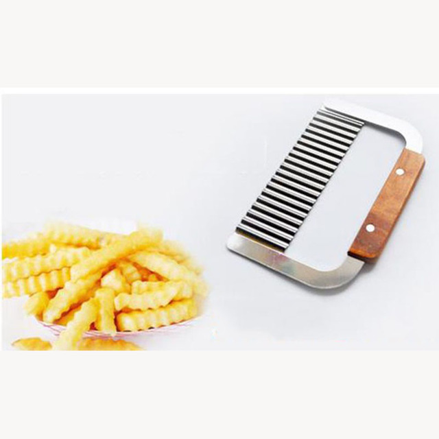 curly spiral french fry potato cutter crinkle knife stainless steel