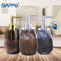 GAPPO liquid soap dispensers resin soap imported resin Bottles Bathroom decoration bath soap dispensers bottles