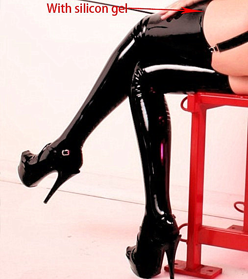 Sexy Lingerie Body Stocking Pu Leather Pvc Stocking Black Garter Belt Latex Catsuit Nuisette Sexy Lace PU Tighs Women
