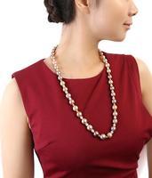 11 13 мм круглый пресноводного жемчуга Цепочки и ожерелья