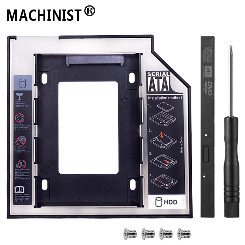 """Universal SATA 3.0 2nd HDD SSD Caddy 9.5mm For 2.5"""" 2TB SSD Case Hard Disk Enclosure Laptop DVD-ROM Optical Bay BOX Optometrist"""