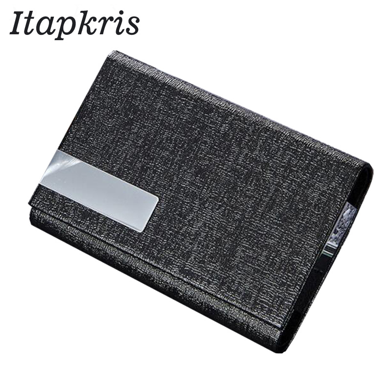 High Quality Aluminium Business Credit Card Holder Travel Leather Bank Cardholder Men ID Name Card Case Rfid wallet blocking 2018 pu leather unisex business card holder wallet bank credit card case id holders women cardholder porte carte card case