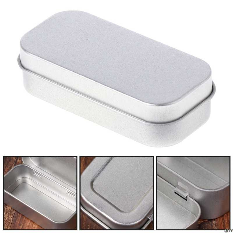 Portable Metal Lip Small Storage Box Case Organizer For Money Coin Candy Keys