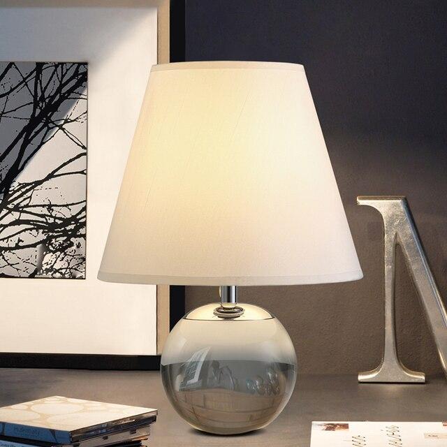 253 39 Base En Cristal Transparent Lampes De Table Chaudes Chambre Moderne Table De Chevet Lampe De Bureau Salon Creatif Etude Bureau Lumiere