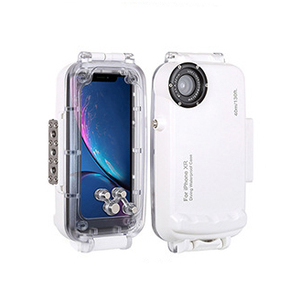 Image 1 - 40M Onderwater Duiken Case Voor Iphonexs Max Xr X Waterdichte Zwemmen Sport Fotografie Shell Cover Voor IPhone7 8 Plus surfriding