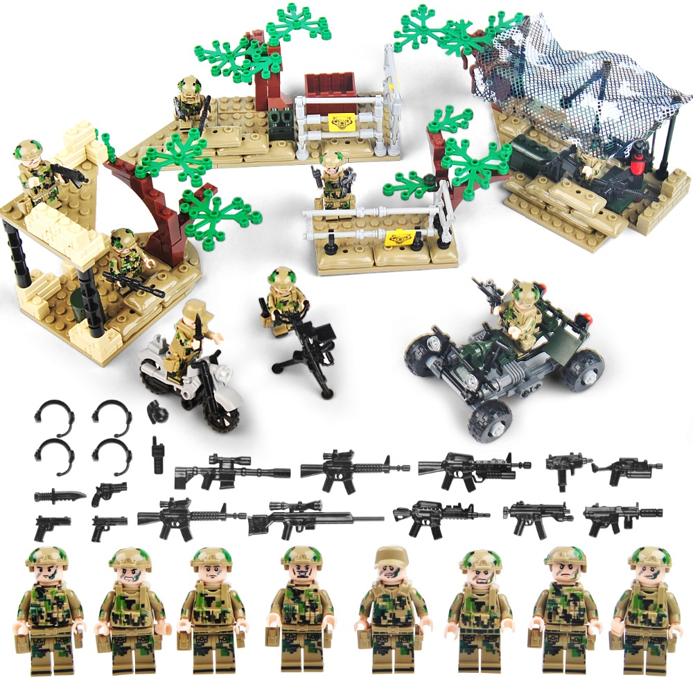 8Pcs US Army Russian Marine Anti-terrorism Soldier Weapon Small Action Figures Building Blocks Compatible Legoe Military Toys as terrorism evolves
