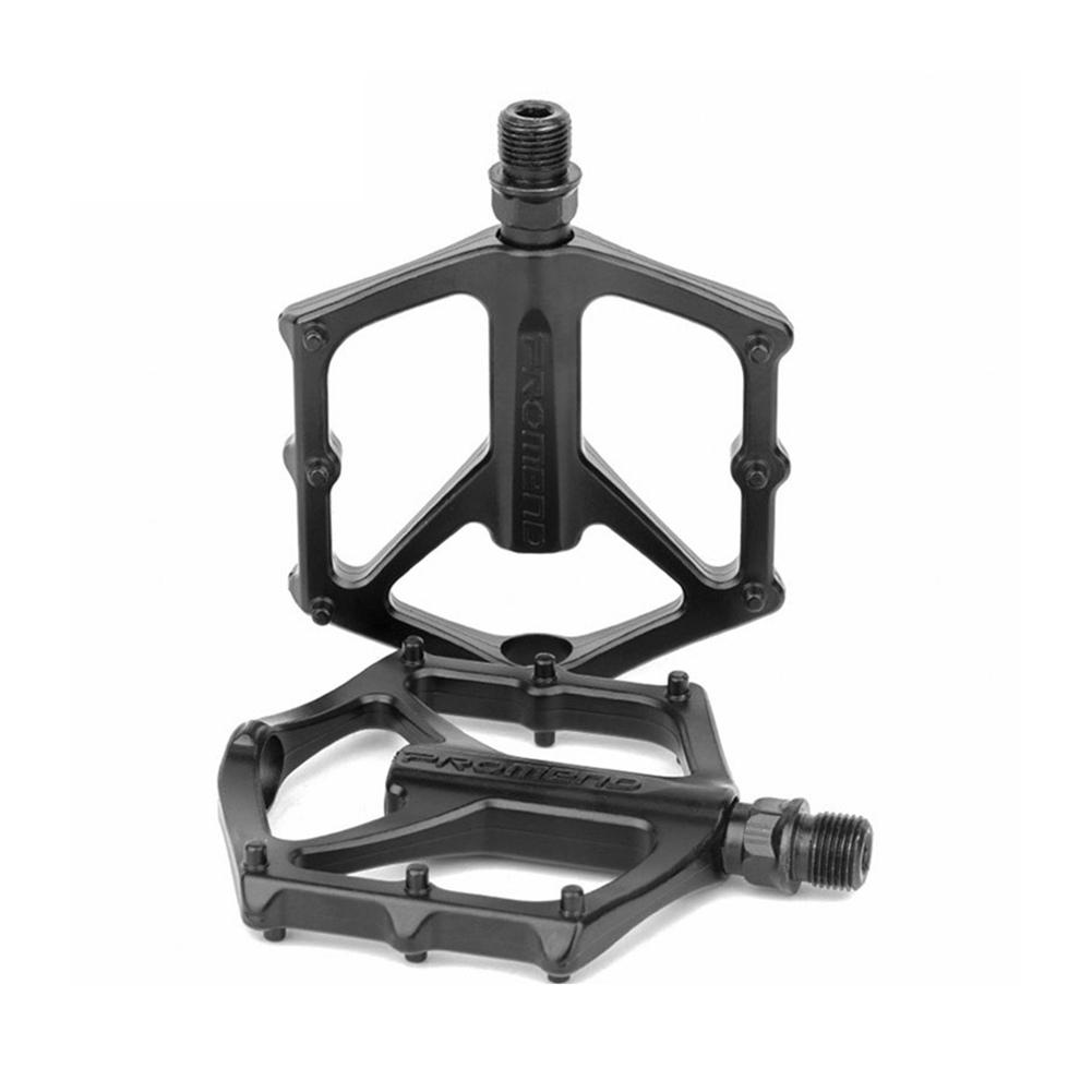цена на Mountain Bike Bicycle Pedal MTB Aluminum Alloy Bicycle Flat Bearing Pedal Sports Ultralight Accessories Matte Black