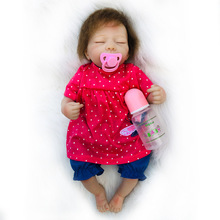 18inch Cute BeBe Reborn Doll Cotton Body Silicone Reborn Baby Dolls Lifelike Newborn Baby Gift Babies Toy Brinquedos Juguetes premature baby 16inch soft silicone reborn dolls 40cm bebe reborn kids gift simulation lifelike newborn baby boneca brinquedos
