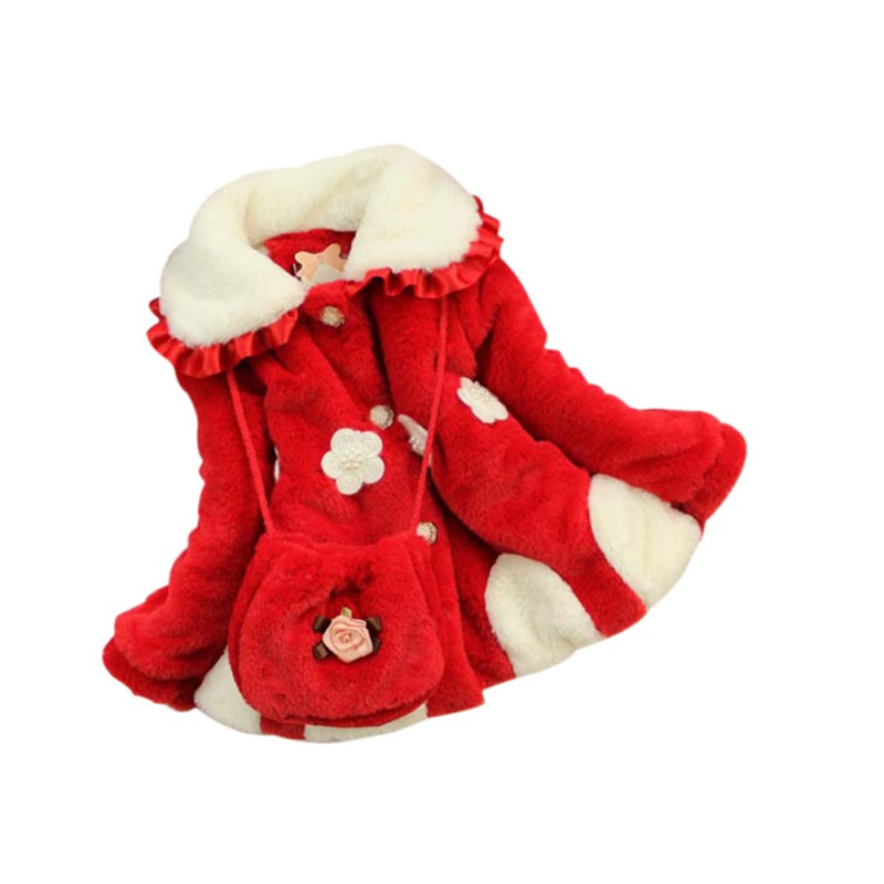 Infant Girls Warm Winter Coat Baby Thicken Outerwear Padded Jacket Cotton Fashion Tops