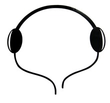 10pcs Fashion Headphone Headset Design Car Rear Emblems Sticker Paster Decal New