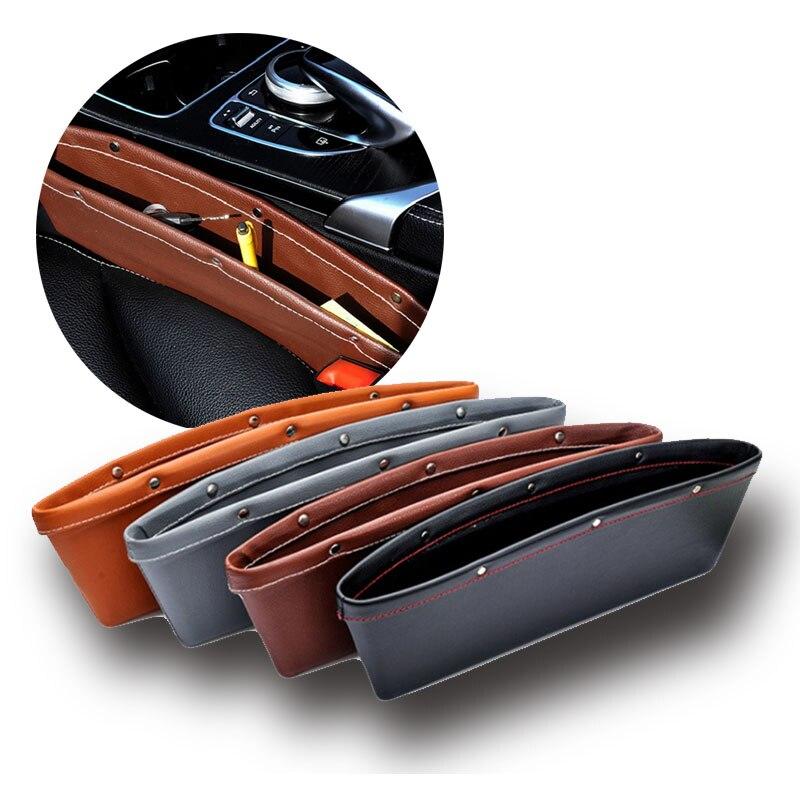 2pcs set Car Seat Gap Pocket Catcher Organizer Leak Proof Storage Bags Multifunctional Seat Gap Store