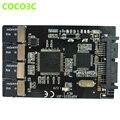 "Бесплатная доставка (5 шт.) Multi Карта Micro Sd для Micro SATA адаптер карты 1.8 ""hdd случае с RAID 4 TF до 16 pin SATA конвертер"