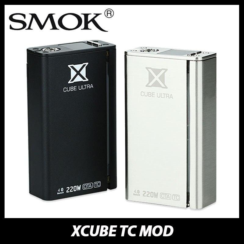 ФОТО Original 220W SMOK Xcube Ultra TC Mod Temp Control Mod TC Bluetooth MOD OTA with X3 Chip Electronic Cigarette Vape Mod