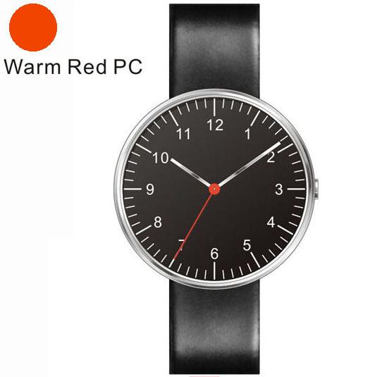 Nuevo Diseño Hombre Relojes Rojo Segunda Mano Movimiento de Cuarzo Cargarlo de Construcción