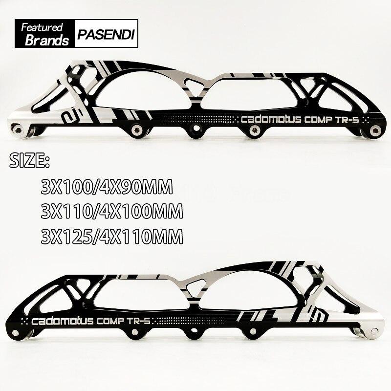 Professional Speed Skate Frame 3x125 Or 4x110 Chassis Original Aluminum Stripes Hold Frame Roller Adult Skate