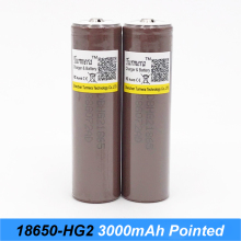 Original 18650HG2 3000mah with pointed NO PCB Electronic Cigarette Rechargeable battery power high discharge,30Amp large current
