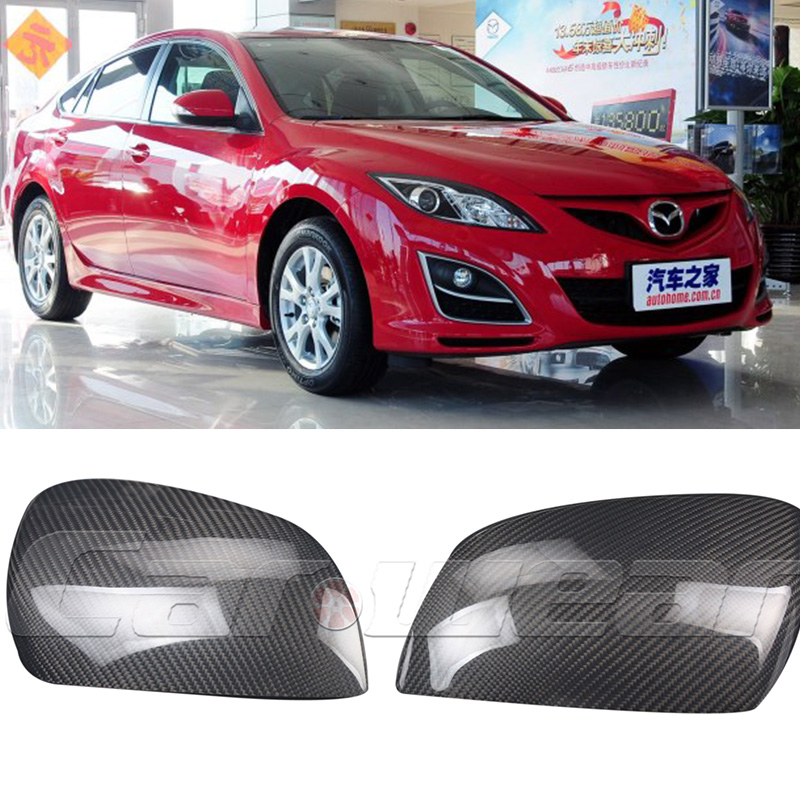 цена на Replace Carbon Fiber Car tuning side wing mirror cover trim for Mazda 6 2009-2013