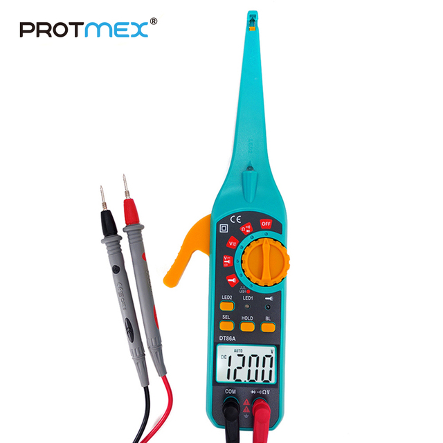 PROTMEX Multi funktion Fahrzeug Batterie Tester Reparatur Automotive Auto Diagnose Neue Digital Multimeter Mit Sonde Test