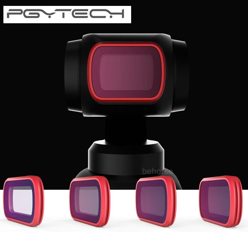 Kit de filtres PGYTECH ND Kit CPL ND8/16/32/64 PL filtre progressif pour caméra de poche DJI OSMO rouge/rouge clair/accessoire filtre de plongée-in Accessoires cardan from Electronique    1
