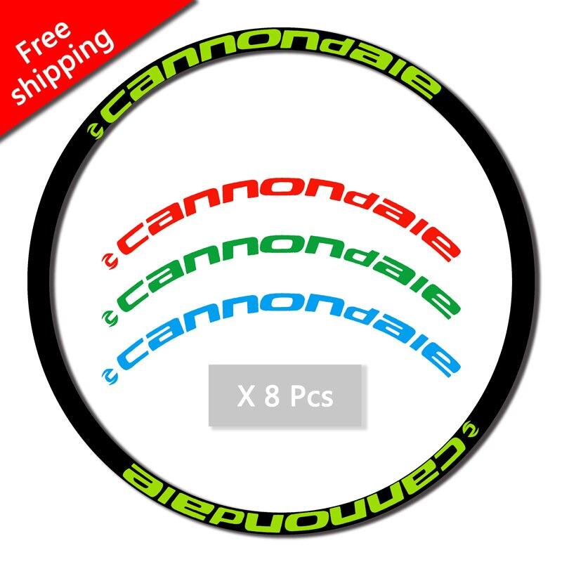 17 decalques mtb aro conjunto adesivos de duas rodas conjunto adesivos para 26er 27.5er 29er polegada cannondal e corrida ciclismo decalques frete grátis