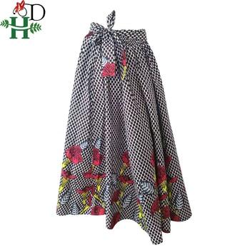 100% coton africain vêtements dahsiki imprimé jupes maxi jupe vêtements africains pour les femmes jupe jupes taille haute