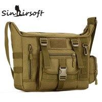 SINAIRSOFT Large Men A4 14 Inch Laptop Shoulder School Bag Ultra Light Range Soldier Ultimate Stealth