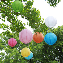 """10 Pcs/lot 6"""" 8"""" 10"""" 12"""" 14"""" 16"""" multicolor Chinese Paper Lanterns Round Paper Ball lampion Wedding Decoration Party supplies"""