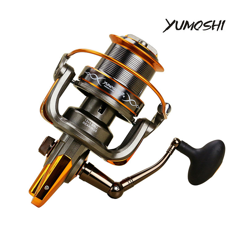 ФОТО Large Capacity Wire Cup Distant Fishing Reels 13+1BB Printing Bearing Distant Fishing Reels 6+1BB Stainless Steel Bearing Reels