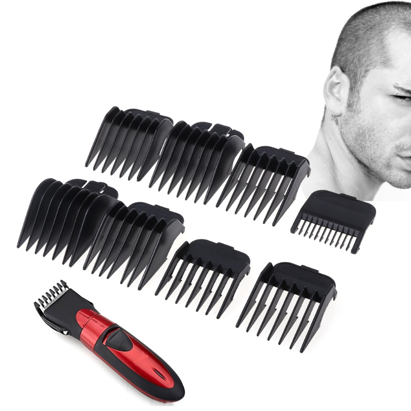 8Pcs Universal Hair Clipper Limit Comb Guide Attachment Size Barber Replacement