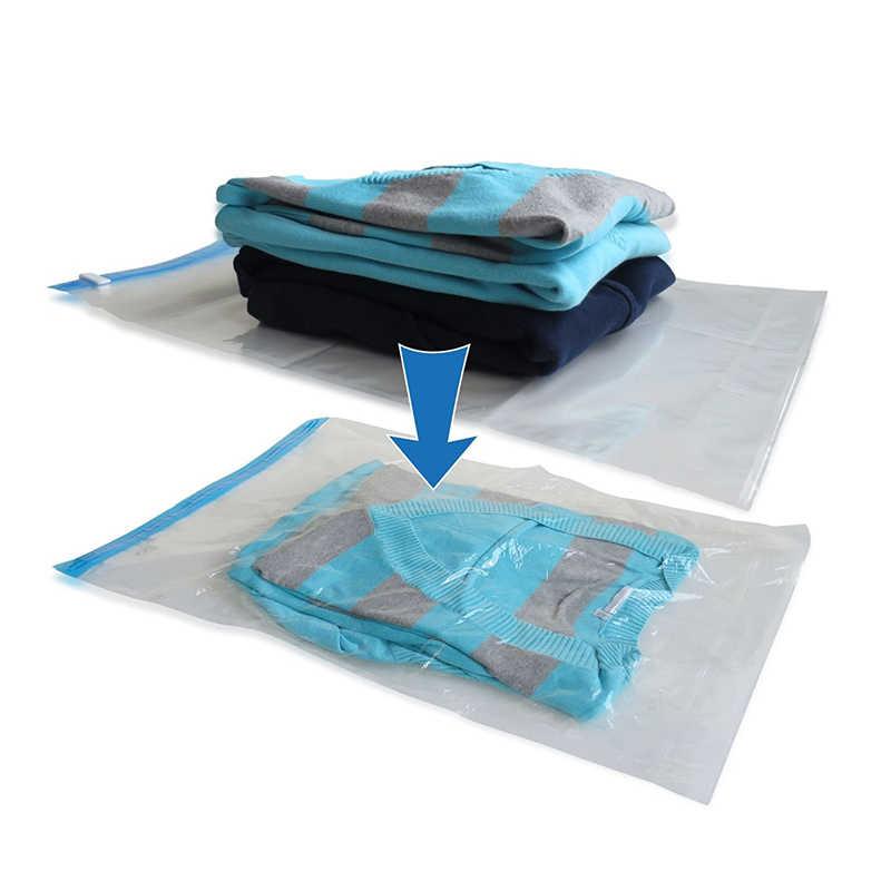 1 шт. ручная прокатка компрессионная вакуумная сумка граница Складная сжатая Домашняя одежда пластиковая сумка для хранения Экономия пространства уплотнения сумки