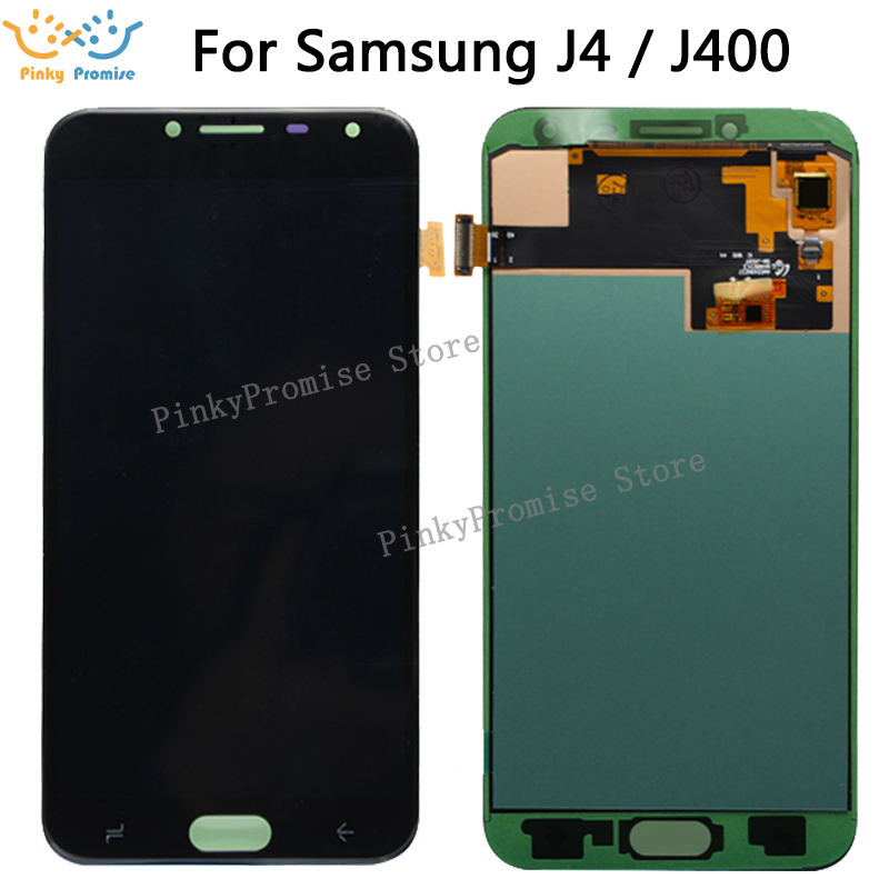 For J400 AMOLED LCD For Samsung Galaxy J4 J400 J400F J400G DS SM J400F LCD Display