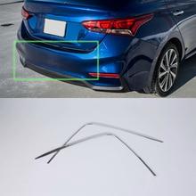 OUBOLUN ABS exterior car parts Car body kits rear bumper trims For HYUNDAI 2017 ACCENT/VERNA abs car accessories car body kits exterior rear bumper foot plate 1pcs for 2018 mercedes benz vito