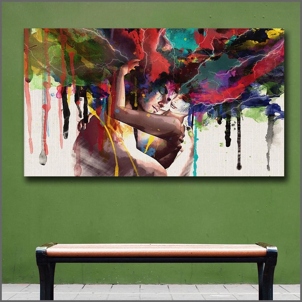 Man & Woman Abstract Art Painting