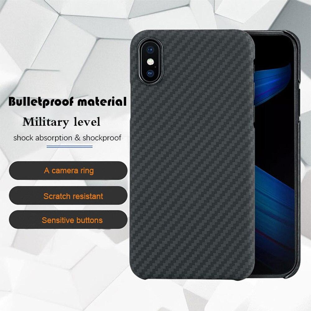 Luxus Weiche Aramid Faser Fall Für iPhone X Fall Zurück Abdeckung Carbon Faser Muster für iPhone 10 Fall-Matte 5,8 zoll