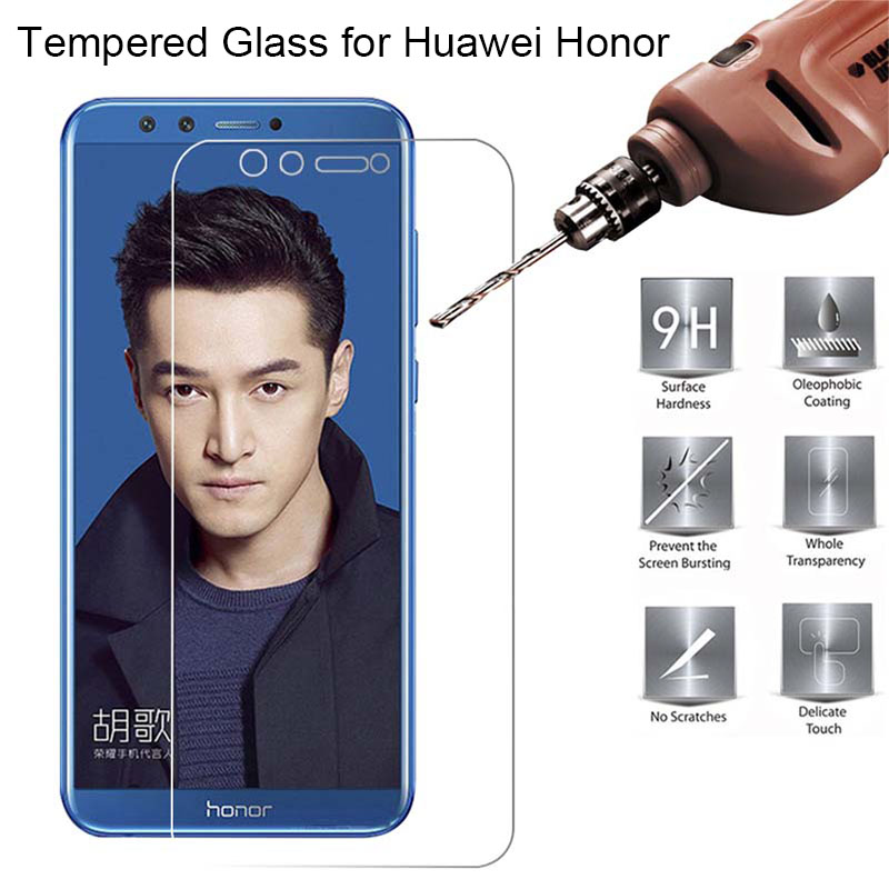 Screen-Film-Glass-for-Huawei-Honor-9-Lite-8-Pro-View-10-7i-Tempered-Glass-for