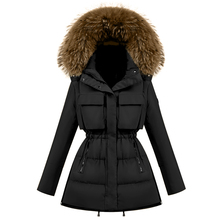 Korean Style New Fashion Winter Jacket Women 2016 Large Raccoon Fur Collar Hooded Jacket Thick Down Coat For Women Outwear Parka