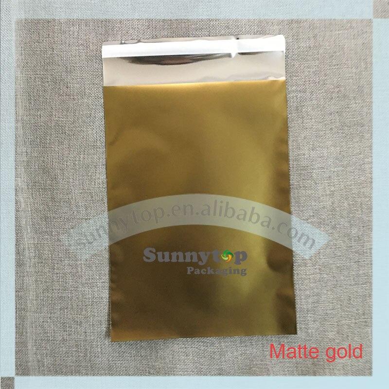 110 x 220mm DL Colored foil bag matte foil mailers 4 x 9 poly mailers 100pcs