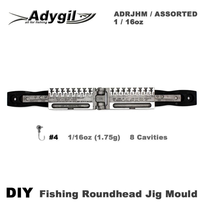 Форма для рыболовных колец adyil, DIY, ADRJHM/Ассорти, комбинированная, 1/16 унций (1,75 г), 8 полостей|Рыболовные снасти|   | АлиЭкспресс