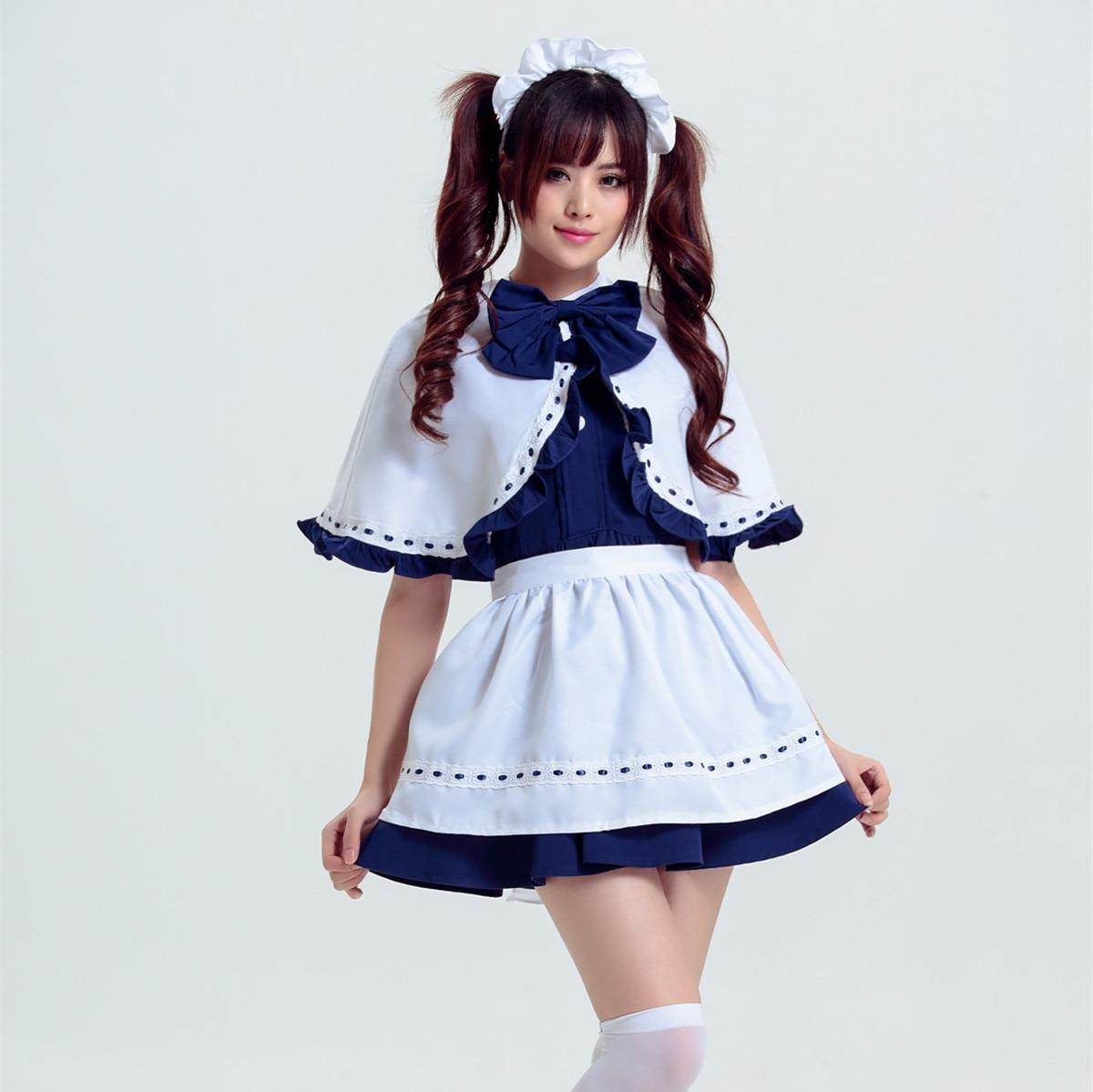 Girls School Maid Costume Cosplay Shirt+skirt Student Uniform Sailor Lolita Dress Maid Uniform Halloween