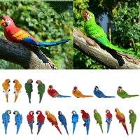 20 Style Imitation Animal Resin Large Parrot Bird Statue Yard Tree Lawn Ornament Hanging Sculpture Decoration Garden Craft