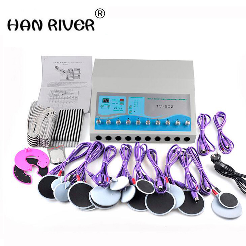 2018 hot sales Cosmetic instrument massager weight loss machine muscle stimulator electrical stimulation machine body massager 2017 hot sale mini electric massager digital pulse therapy muscle full body massager silver