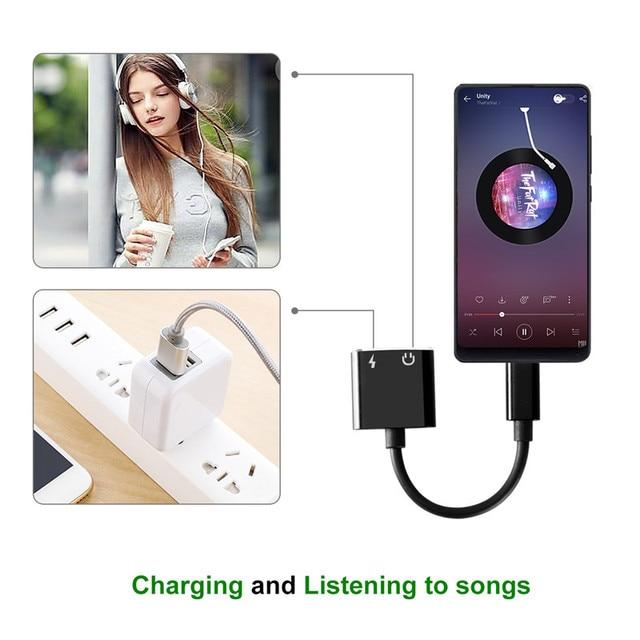 USB Type C adaptateur Audio Type C à 3.5mm Jack AUX écouteurs Audio convertisseur câble pour Huawei P20 Pro LG G5 G6 Xiao mi mi 6/8/9