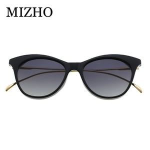 Image 5 - MIZHO marca futuro Metal Vintage gafas de sol polarizadas mujer Ojo de gato blanco UV400 gafas pequeñas mujer gafas de sol claro Visual