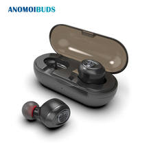 Anomoibuds Capsule Беспроводной СПЦ наушники V5.0 Bluetooth наушники гарнитуры глубокий бас стерео звук спортивные наушники для samsung Iphone